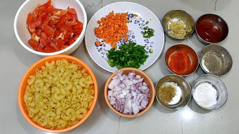 Macaroni Pasta Indian Style Recipe Step 1