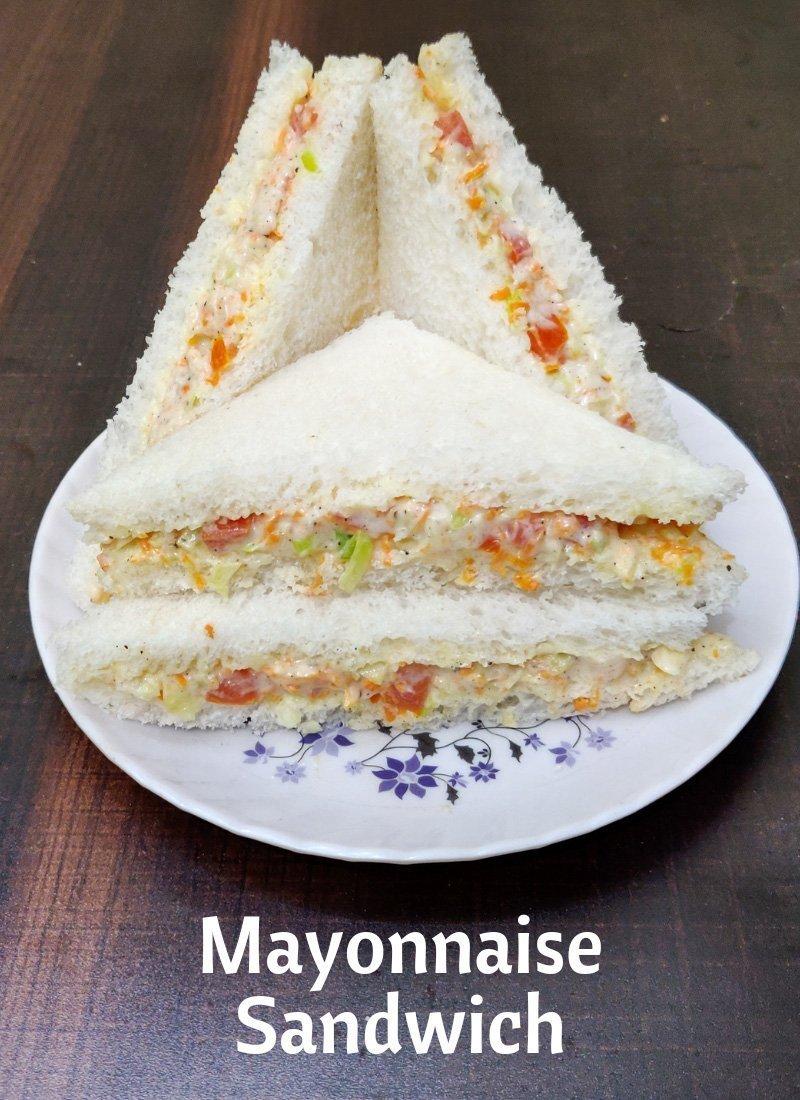 Mayonnaise Sandwich Recipe Kids Lunchbox Recipe Mayo Sandwich